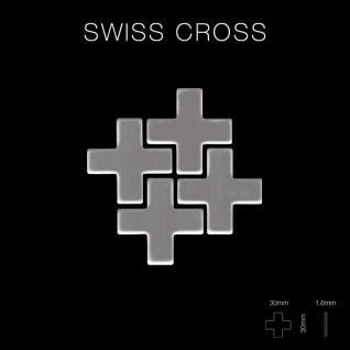 Mosaik Fliese massiv Metall Edelstahl hochglänzend in grau 1, 6mm stark ALLOY Swiss Cross-S-S-M 0, 88 m2 - Vorschau 2
