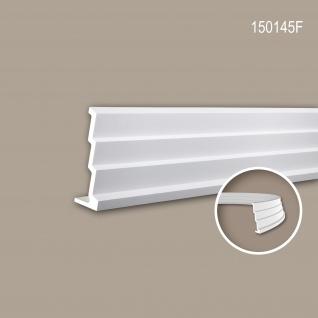 Eckleiste PROFHOME 150145F Zierleiste Flexible Leiste Stuckleiste Modernes Design weiß 2 m