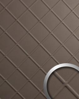 Dekorpaneel Leder Optik WallFace 19544 CORD Dove Tale Wandverkleidung geprägt in Nappaleder Optik matt selbstklebend braun 2, 6 m2