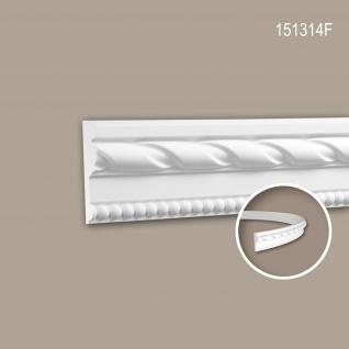 Wand- und Friesleiste PROFHOME 151314F Stuckleiste Flexible Leiste Zierleiste Neo-Klassizismus-Stil weiß 2 m