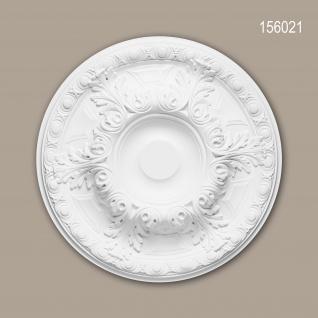 Rosette PROFHOME 156021 Zierelement Deckenelement Neo-Renaissance-Stil weiß Ø 49, 0 cm