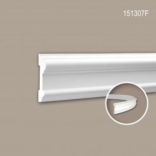 Wand- und Friesleiste PROFHOME 151307F Stuckleiste Flexible Leiste Zierleiste Neo-Klassizismus-Stil weiß 2 m