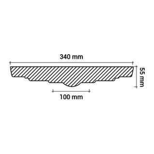Rosette PROFHOME 156014 Zierelement Deckenelement Zeitloses Klassisches Design weiß Ø 34, 0 cm - Vorschau 3
