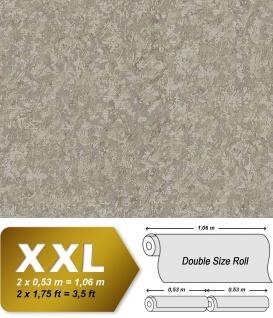 Uni Tapete EDEM 9076-26 Vliestapete geprägt in Spachteloptik und Metallic Effekt beige perl-gold 10, 65 m2