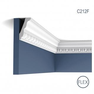 Zierleiste Orac Decor C212F LUXXUS flexible Stuckleiste Eckleiste Eckleiste Dekor Decken Wand Leiste weiß | 2 Meter
