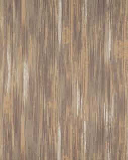 Streifen Tapete Profhome BV919088-DI heißgeprägte Vliestapete strukturiert mit abstraktem Muster matt braun ocker creme-weiß 5, 33 m2