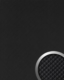 Wandpaneel Leder Design Karo Muster WallFace 15658 ROMBO Wandplatte Wandverkleidung selbstklebend schwarz | 2, 60 qm