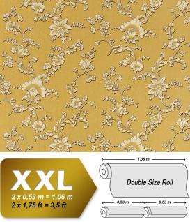 Blumen Vliestapete Vlies EDEM 919-32 Blumentapete XXL Luxus Hochwertige Präge-Struktur Floral olive gold creme bronze 10, 65 qm