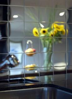 Mosaik Fliese massiv Metall Edelstahl hochglänzend in grau 1, 6mm stark ALLOY Century-S-S-M 0, 5 m2 - Vorschau 5