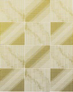 Retro Tapete EDEM 85071BR31 Tapete leicht strukturiert mit grafischem Muster und Metallic Effekt weiß gold bronze 5, 33 m2