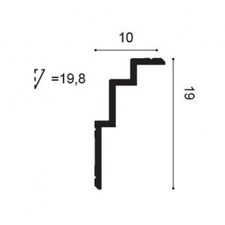 Eckleiste Orac Decor C392 MODERN STEPS Zierleiste Modernes Design weiß 2m - Vorschau 2