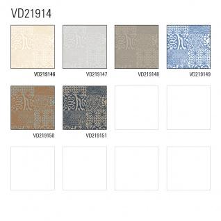 Barock Tapete Profhome VD219149-DI heißgeprägte Vliestapete geprägt im Barock-Stil glänzend blau weiß 5, 33 m2 - Vorschau 3