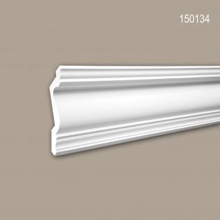 Eckleiste PROFHOME 150134 Zierleiste Stuckleiste Neo-Klassizismus-Stil weiß 2 m