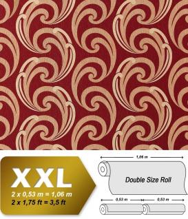 Grafik Vliestapete EDEM 915-35 XXL Designer Präge-Tapete geschwungene abstraktes Muster rot bronze gold 10, 65 qm - Vorschau 1