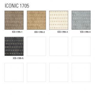 Grafik Tapete Atlas ICO-1705-2 Vliestapete glatt mit abstraktem Muster schimmernd beige gold 5, 33 m2 - Vorschau 4