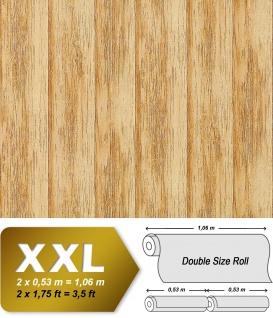 Holz Tapete Vliestapete EDEM 944-21 Geprägte Tapete in Holzoptik Holzdielen-Muster kiefer-gelb antik-gelb 10, 65 qm