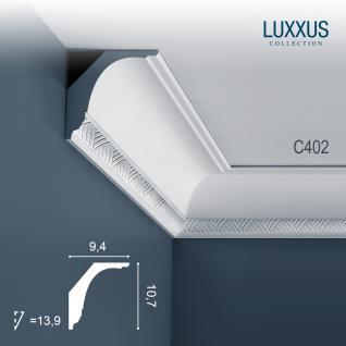 Stuck Zierleiste Orac Decor C402 LUXXUS Eckleiste Decken leiste Dekorleiste Deckenleiste Gesims | 2 Meter