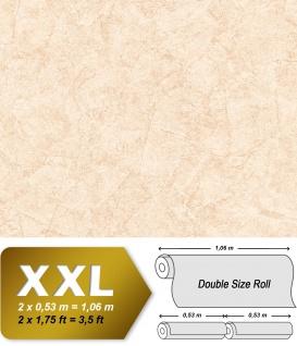 Spachtel Putz Tapete EDEM 9077-20 heißgeprägte Vliestapete geprägt im Shabby Chic Stil glänzend creme weiß hell-elfenbein 10, 65 m2