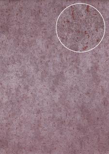 Stein-Kacheln Tapete Atlas ICO-5073-8 Vliestapete glatt Gesprenkelt schimmernd violett wein-rot 7, 035 m2