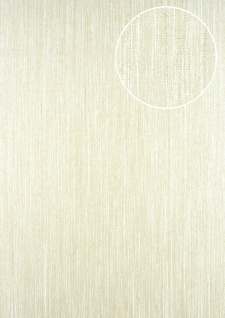 Streifen Tapete ATLAS CLA-596-6 Vliestapete glatt mit grafischem Muster glitzernd beige perl-weiß perl-beige 5, 33 m2