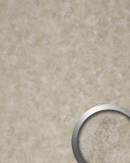Wandverkleidung Design Platte WallFace 18588 DECO Iron Age selbstklebend Vintage Metall-Optik platin beige | 2, 60 qm