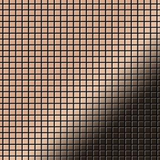 Mosaik Fliese massiv Metall Kupfer gewalzt in Kupfer 1, 6mm stark ALLOY Glomesh-CM 1, 07 m2