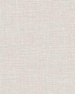 Textiloptik Tapete Profhome DE120112-DI heißgeprägte Vliestapete geprägt in Textiloptik matt beige creme-weiß 5, 33 m2