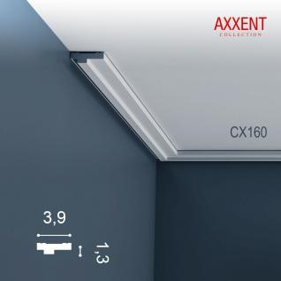 Dekor Stuckleiste Wand Orac Decor CX160 AXXENT Zierleiste Profilleiste Profil Decken Boden Leiste | 2 Meter