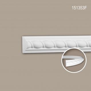 Wand- und Friesleiste PROFHOME 151353F Stuckleiste Flexible Leiste Zierleiste Neo-Empire-Stil weiß 2 m