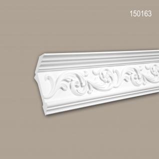 Eckleiste PROFHOME 150163 Zierleiste Stuckleiste Rokoko Barock Stil weiß 2 m