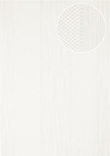 Streifen Tapete Atlas PRI-556-4 Vliestapete strukturiert mit geometrischen Formen glänzend weiß perl-weiß rein-weiß 5, 33 m2
