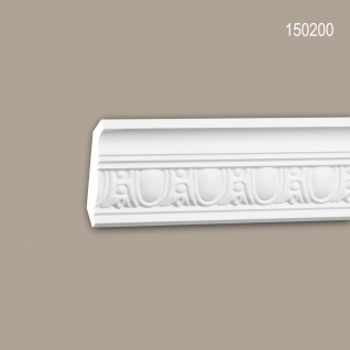 Eckleiste PROFHOME 150200 Zierleiste Stuckleiste Neo-Klassizismus-Stil weiß 2 m
