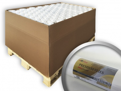 Renoviervlies PROFHOME PremiumVlies 150 g Profi-Malervlies Glattvlies Vlies-Gewebe überstreichbar 1 Pal. 2000 qm 80 Rol.