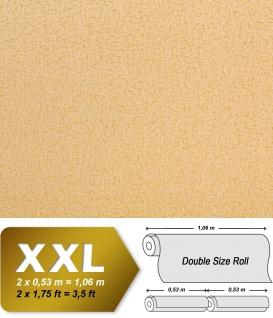 Textiltapete Vliestapete EDEM 948-22 Tapete XXL Vintage Lederlook Falten-Optik Seidenglanz gelb hell karamell 10, 65 qm