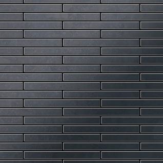 Mosaik Fliese massiv Metall Rohstahl gewalzt in grau 1, 6mm stark ALLOY Deedee-RS 0, 63 m2