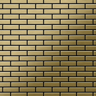 Mosaik Fliese massiv Metall Titan gebürstet in gold 1, 6mm stark ALLOY PK-Ti-GB 0, 88 m2
