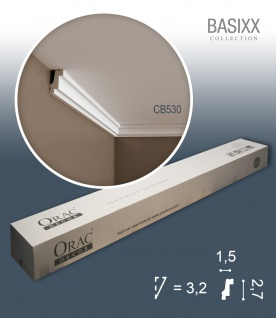 Orac Decor CB530 BASIXX 1 Karton SET mit 135 Stuckleisten | 270 m
