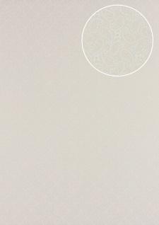 Grafik Tapete Atlas PRI-5049-2 Vliestapete glatt mit Paisley Muster schimmernd elfenbein hell-elfenbein perl-weiß 5, 33 m2