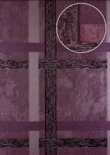 Streifen Tapete Atlas 24C-5060-2 Vliestapete glatt mit geometrischen Formen und metallischen Akzenten lila pastell-violett kupfer 7, 035 m2