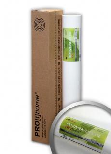 Profhome Renoviervlies 150 g Malervlies Anstrich-Vlies glatte überstreichbare Vliestapete weiß | 18, 75 qm 25 Meter Rolle