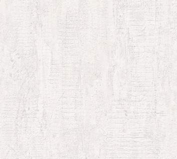 Stein Kacheln Tapete Profhome 944264-GU Vliestapete leicht strukturiert in Steinoptik matt weiß 5, 33 m2