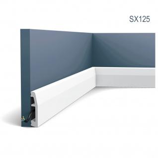 Sockelleiste Fußleiste von Orac Decor SX125 AXXENT Profilleiste Wand Boden Leiste mit Kabelschutz Funktion | 2 Meter - Vorschau 1