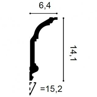 Stuck Zierleiste Orac Decor C339F LUXXUS flexible Eckleiste leiste Deckenprofil Wandleiste klassisch   2 Meter - Vorschau 2
