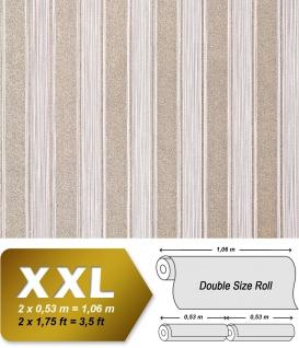 Streifen Tapete XXL Vliestapete EDEM 658-93 Elegante Blockstreifen Tapete braun beige bronze dezente glitzer 10, 65 m2