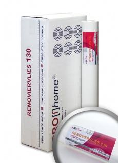 Profhome Renoviervlies 130 g Malervlies glattes Vlies rissüberbrückende Vliestapete weiß | 112, 50 qm 1 Kart. 6 Rollen