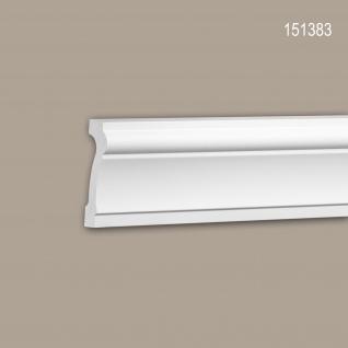 Wand- und Friesleiste PROFHOME 151383 Stuckleiste Zierleiste Friesleiste Neo-Klassizismus-Stil weiß 2 m