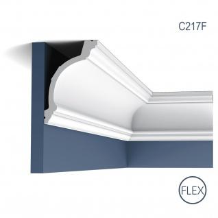 Stuckleiste Orac Decor C217F LUXXUS flexible Zierleiste Eckleiste Dekorprofil Stuckprofil Decken Wand Leiste 2 Meter