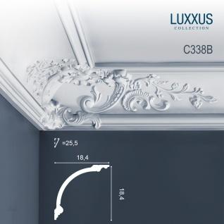 Stuck Wandleiste Orac Decor C338B LUXXUS Eckleiste Zierleiste Profilleiste Stuckleiste Deckenprofil | 2 Meter