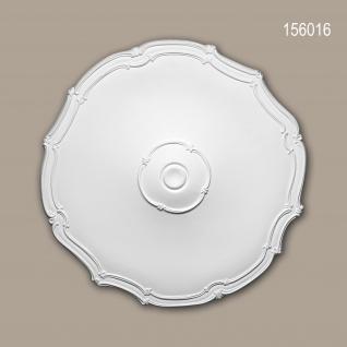 Rosette PROFHOME 156016 Zierelement Deckenelement Jugendstil weiß Ø 48, 0 cm