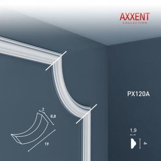 Eckelement Eckstück Orac Decor PX120A AXXENT Dekorelement Rahmen Profil für Wand Friesleiste Zierleiste PX120 | 19 cm